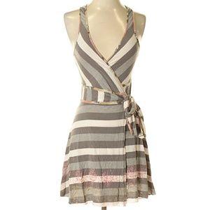 Free people wrap mini dress size 2